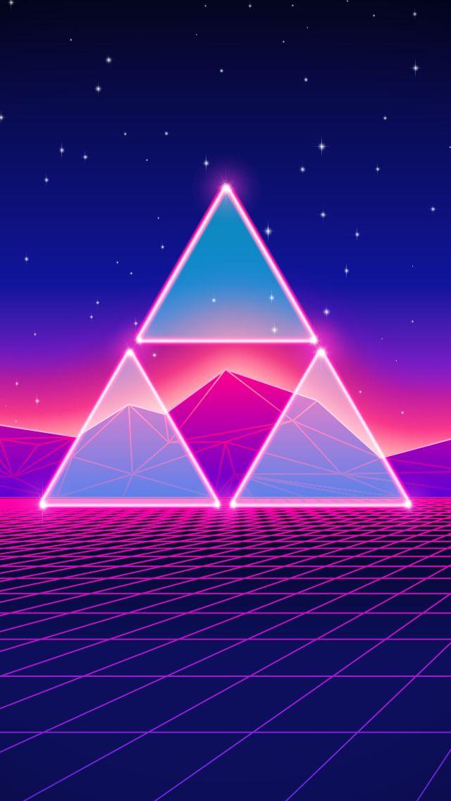 Wallpaper Iphone Hd Keren Synthwave Retro Neon Art