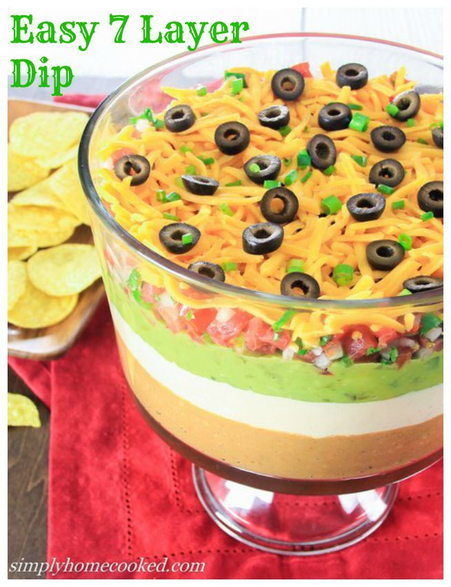 7- Layer dip- Always a huge hit at parties!