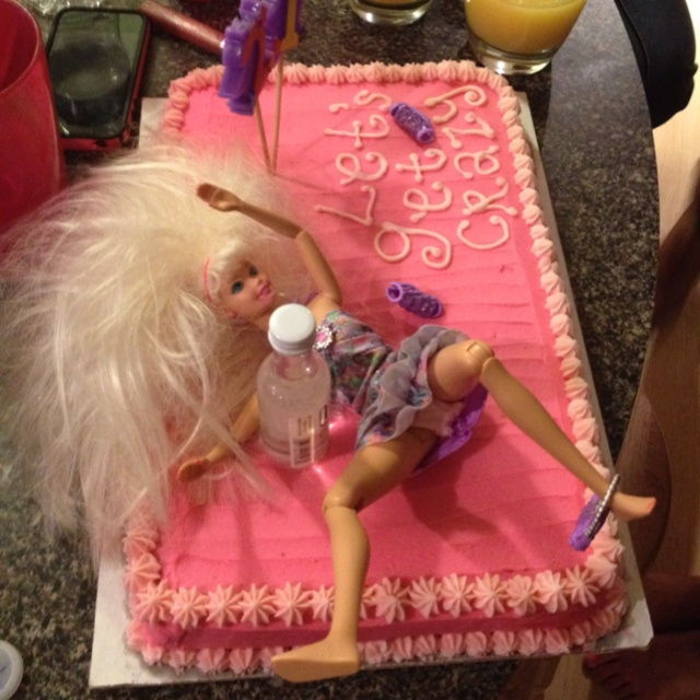 Drunken Barbie Cake Via Jordan BacheloretteBachelorette Party