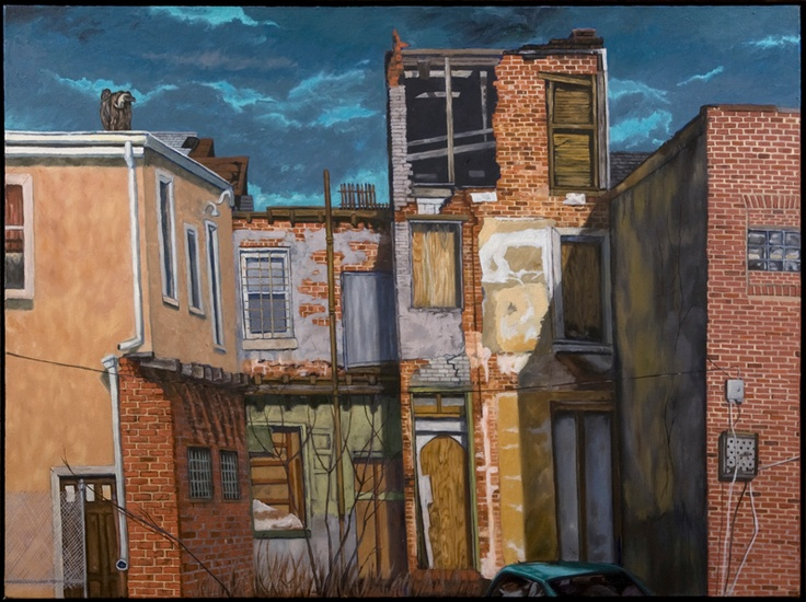 Baltimore Street Art I - Oil on canvas