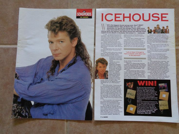 ICEHOUSE_Iva Davies_MAGAZINE CLIPPINGS CUTTINGS_Ships From AUSTRALIA!_L6