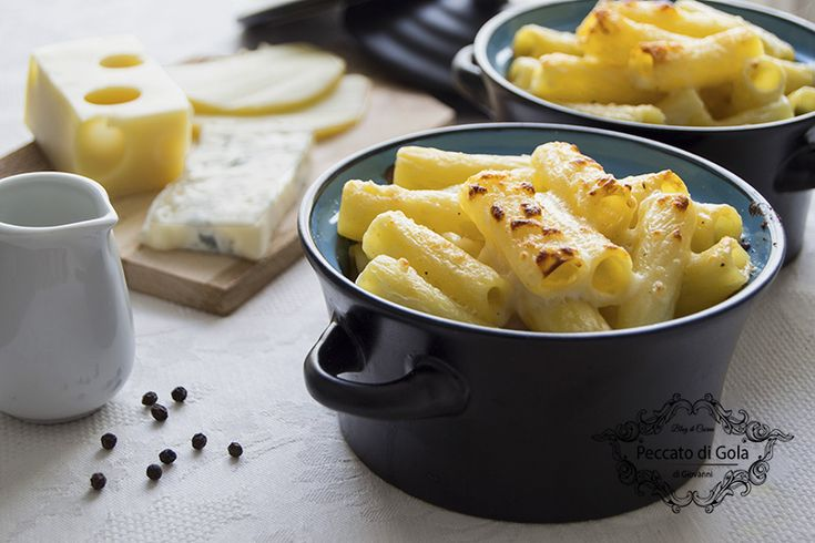 ricetta pasta ai 4 formaggi al forno, peccato di gola