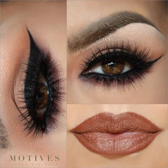 beautiful makeup pictorial using motivescosmetics lip crayon in PECAN