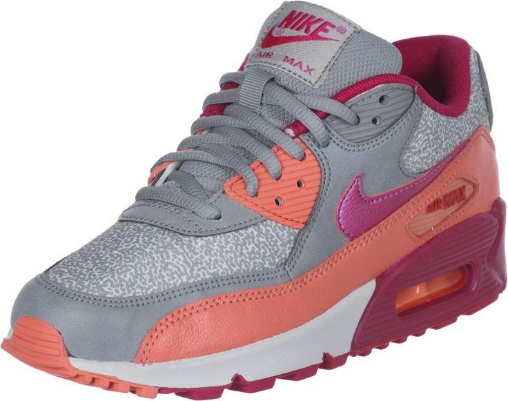 Nike Air Max 90 W chaussures gris orange rouge Vente Chaude \u20ac62.46