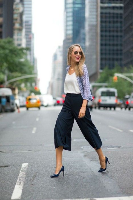 21 Looks with Fashion Culottes Glamsugar.com fashion blog for professional women new york city street style work wear