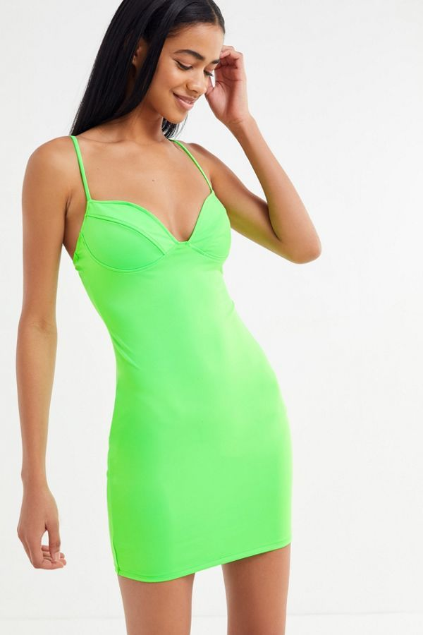 Uo Chiara Neon Bustier Bodycon Dress Bodycon Dress Bustier Dresses