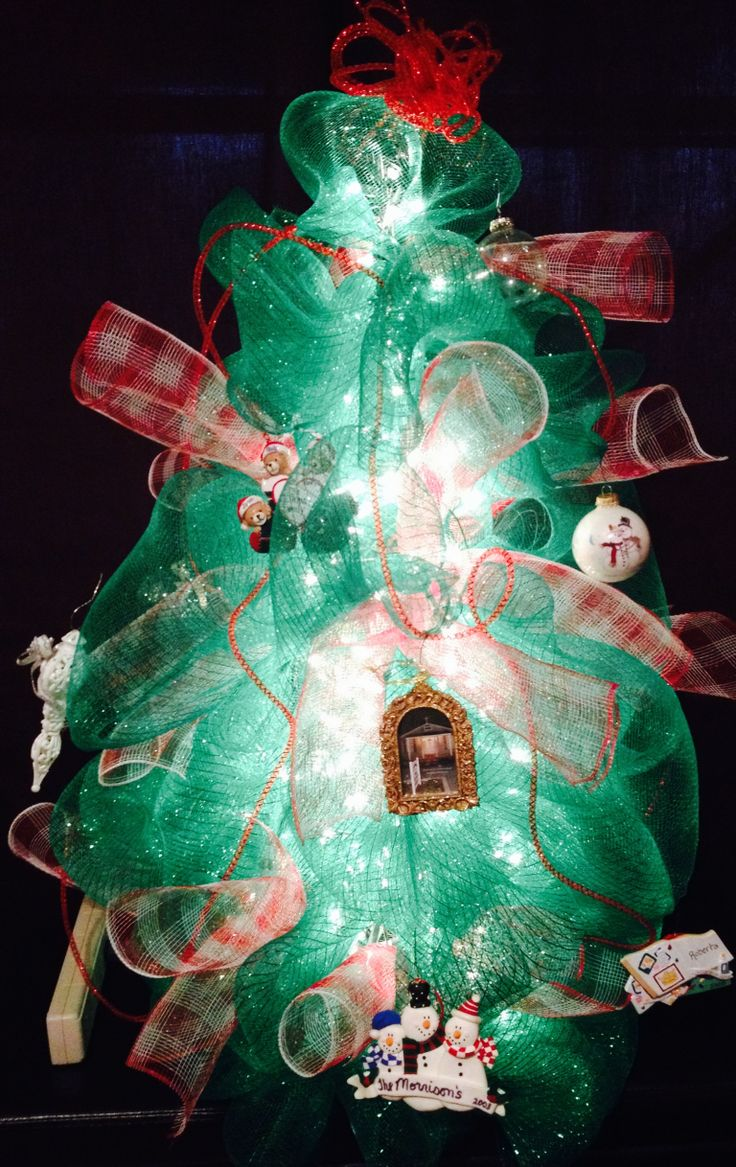 17 best images about deco mesh projects on pinterest for Non christmas tree