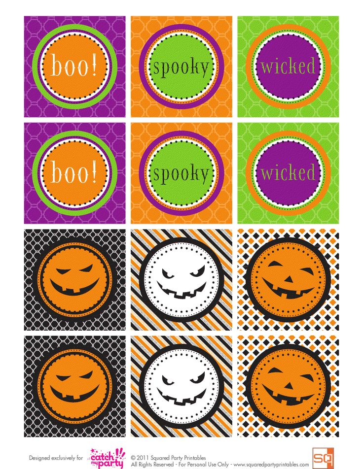 FREE Halloween Party Printables from Squared Party Printables | Catch My Party