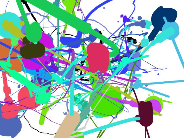 Imitem a Pollock utilitzant l'ordinador