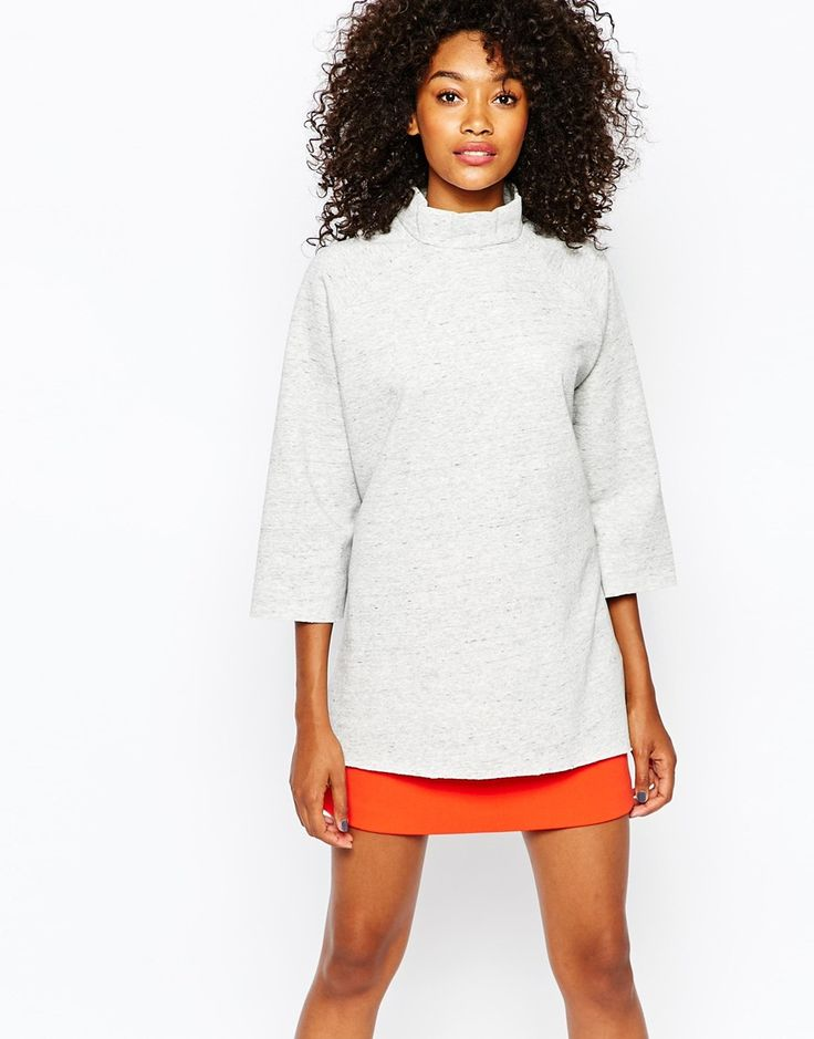 Image 1 of Monki High Neck Oversized Top