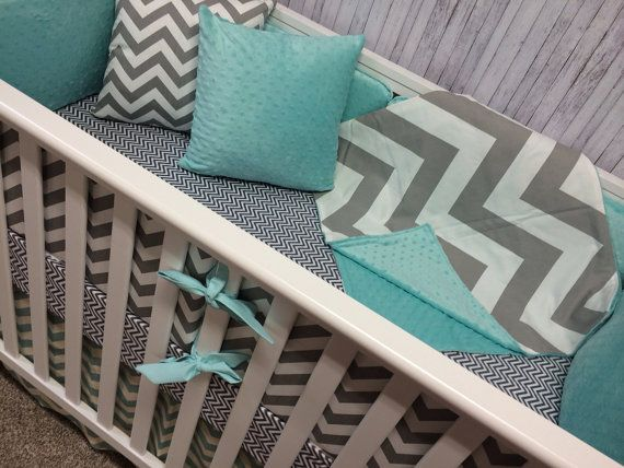 Bumper/Bumperless Crib set Baby bedding by BeautifulBebeDesigns