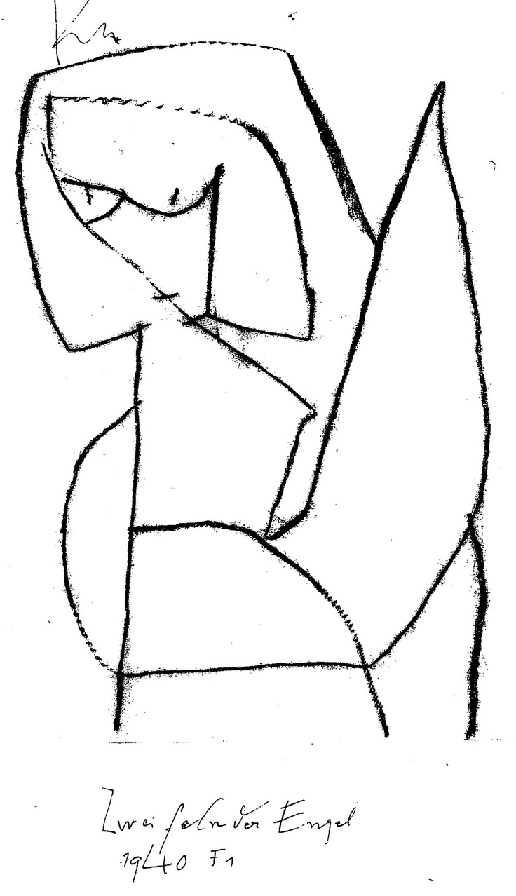Paul Klee - Zweifelnder Engel 1940
