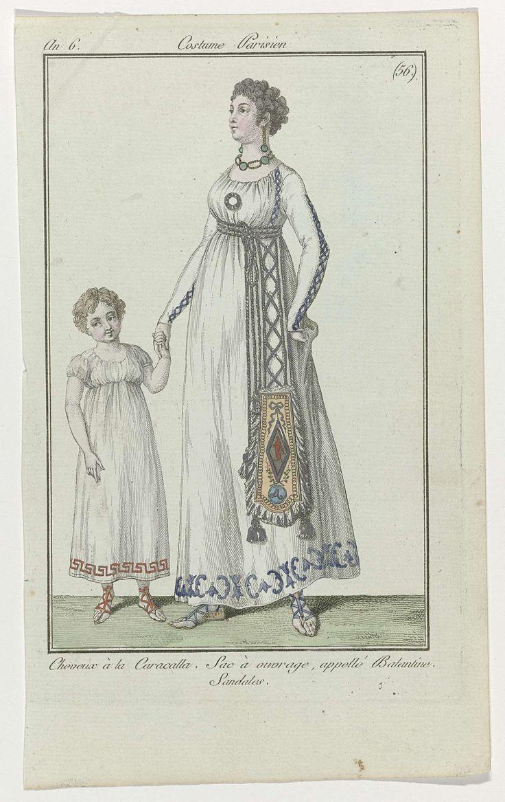 Journal des Dames et des Modes, Costume Parisien, 17 août 1798, An 6, (56) : Cheveux à la Caracalla..., Anonymous, 1798