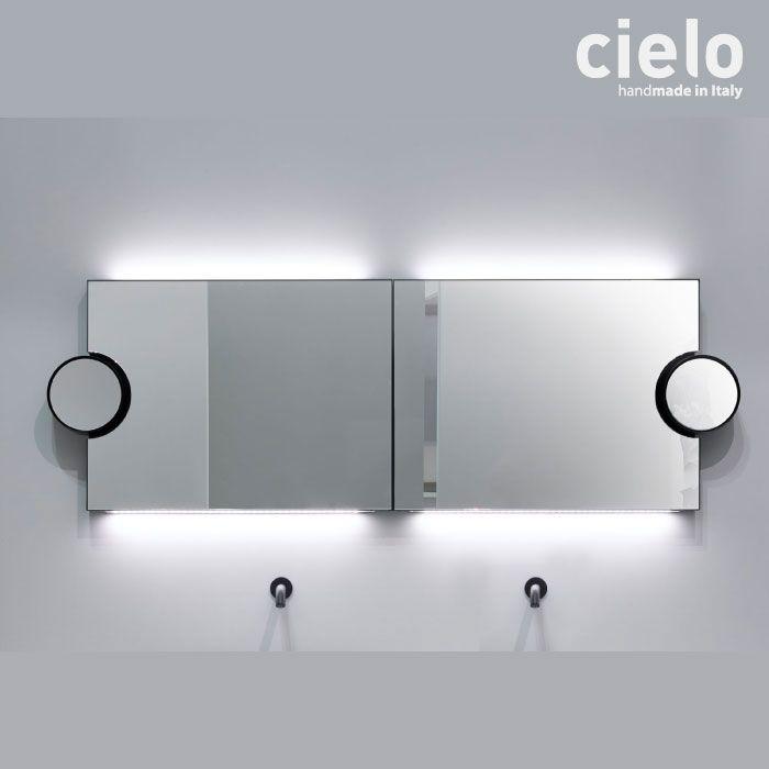 Miroir Lumineux Mural Design 90x60 Miroir Grossissant Polifemo Cielo Miroir Lumineux Miroir Grossissant Miroir Avec Eclairage