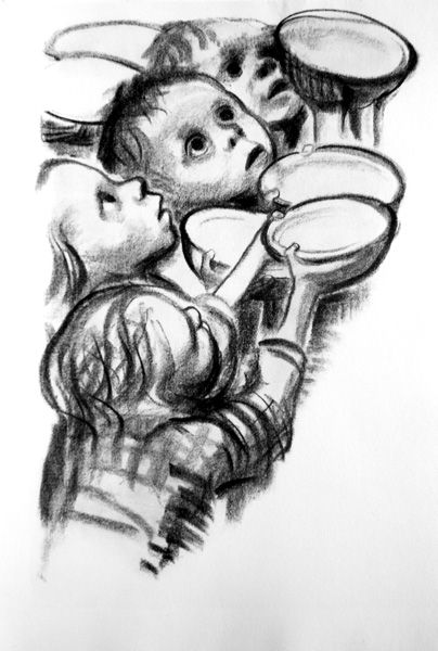 """""""Mon tatouage"""". One of many of the harrowing and beautifully moving works by Käthe Kollowitz."""