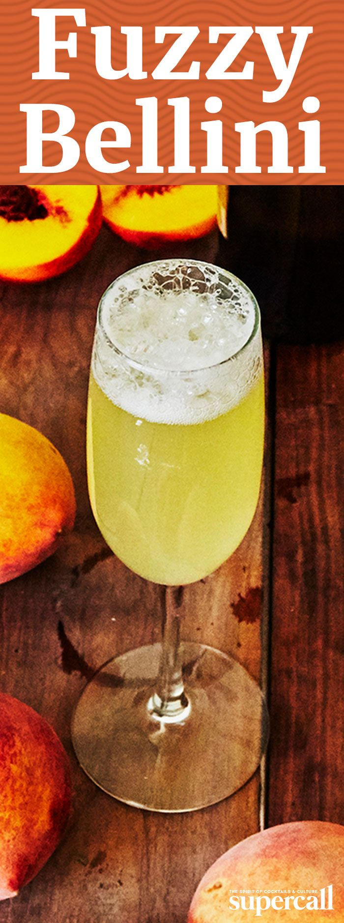 Inspired by the drink, this fuzzy Bellini, mixes orgeat and almond milk syrup, with peach liqueur and orange bitters. Somewhere between a Mimosa, a Fuzzy Navel and a tiki drink without the bite, this brunch concoction sets a new standard for midday cocktails.