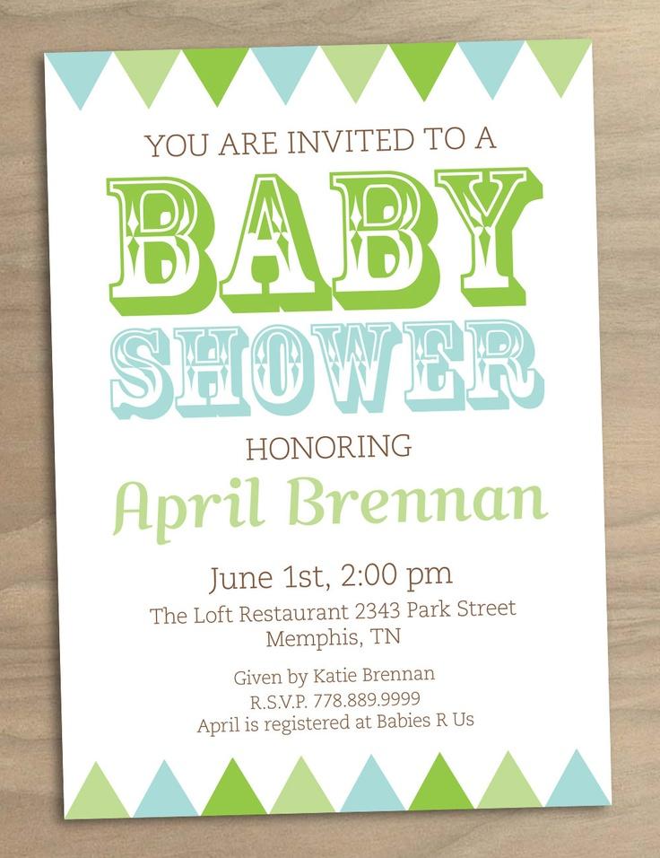 Vintage Baby Shower On A Budget ~ Baby shower invitation or bridal blue