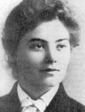 Emily Carr, a famous Canadian artist. She's probably more well-known from later photos as an old woman, but I've always liked this photo, representing a young woman about to travel to the US and Europe in search of herself and her art.