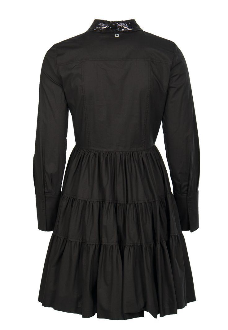 Черное платье-шемизье из поплина-стрейч TWINSET – купить в интернет-магазине по цене 34900 руб., арт. PS72YE - ElytS.ru