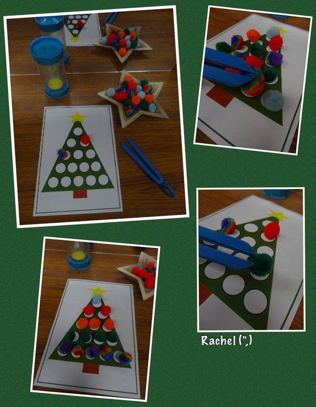 "Fine-Motor Pom-Pom Game (FREE printable) - from Rachel ("",)"