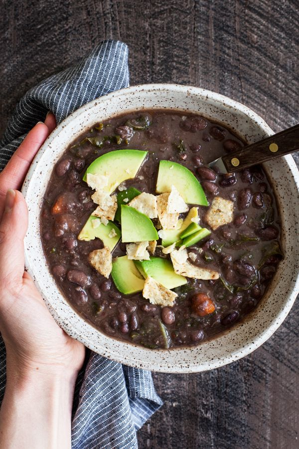 This spicy black bean kale soup is packed with nutrition and flavor. Easy to prepare, freezer-friendly, and a perfect vegan lunch!