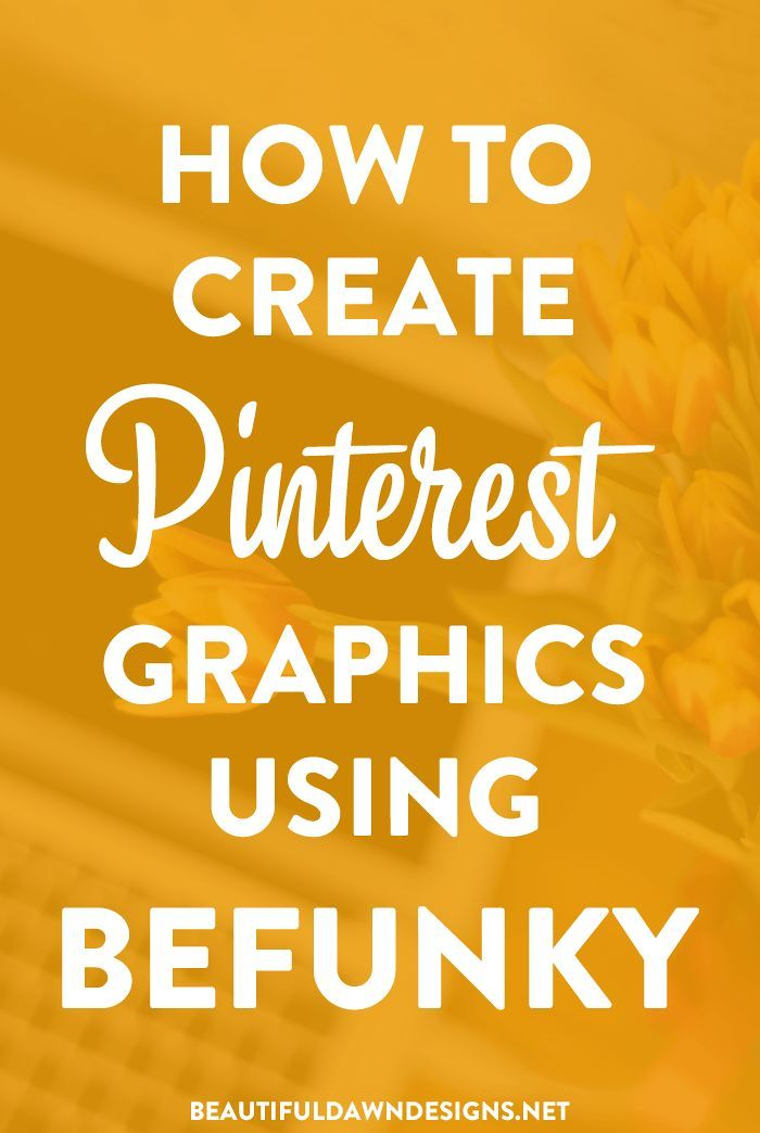 A tutorial showing you how to create Pinterest graphics for your blog using BeFunky. The BeFunky photo editor features a wide variety of effects, features, and templates.