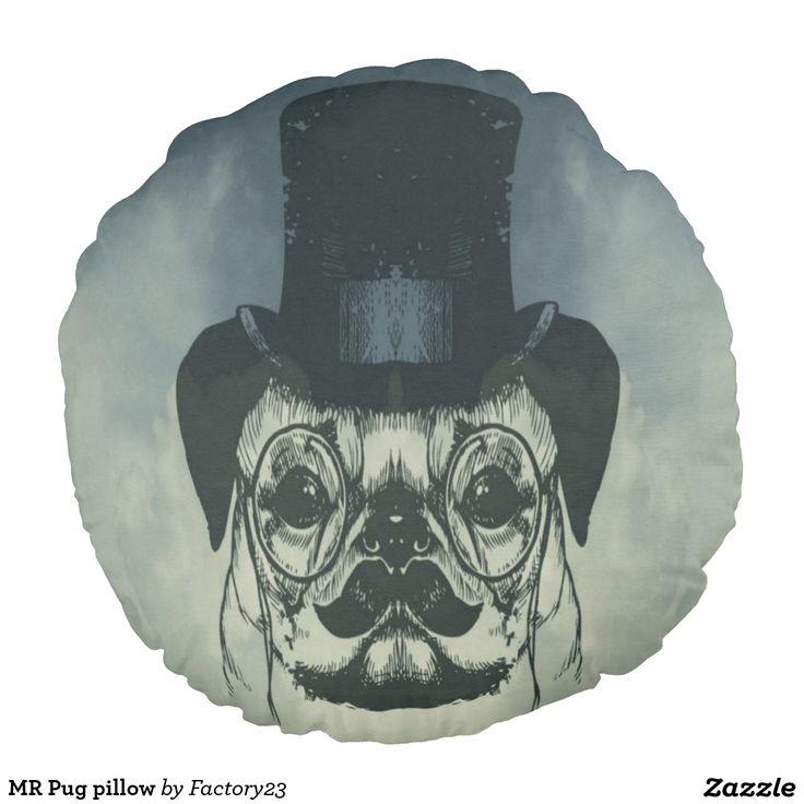 MR Pug pillow #pugonapillow #pug #dog #pillow #zazzle