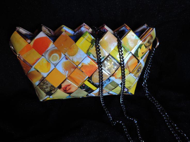 wrapper paper purse magazine yellow #filotheychihiro