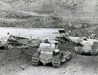A group of vintage Cat dozers at work #CatMachines #heritage #legacy