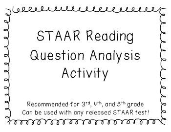 16 best reading workshop images on pinterest reading workshop staar reading question analysis can be used with any test fandeluxe Images