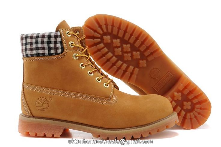 UK New Timberland Women 6 Inch Premium Waterproof Wheat Boots with Plaid Canvas £ 73.59