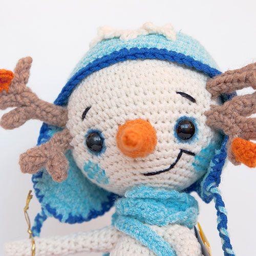 Snowman Lu amigurumi crochet pattern by Ds_mouse