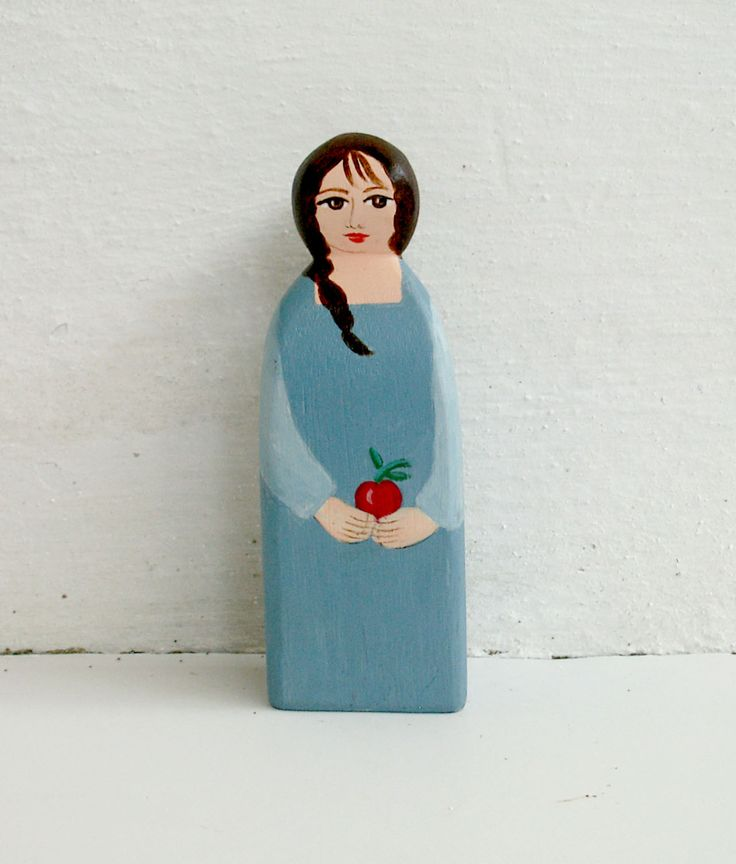 Female figure modern with apple