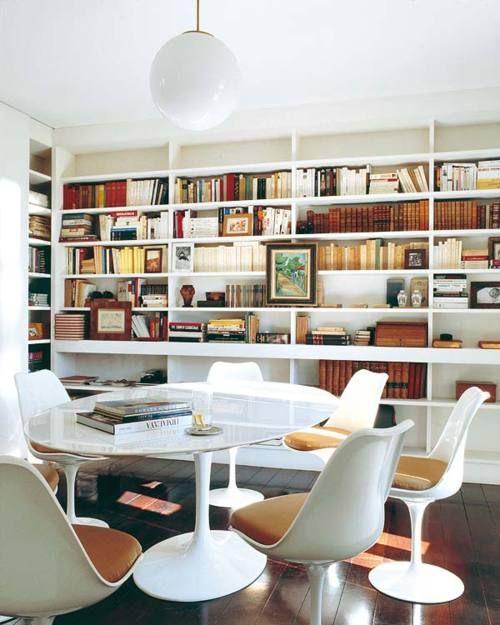 grand reading room, saarinen, white