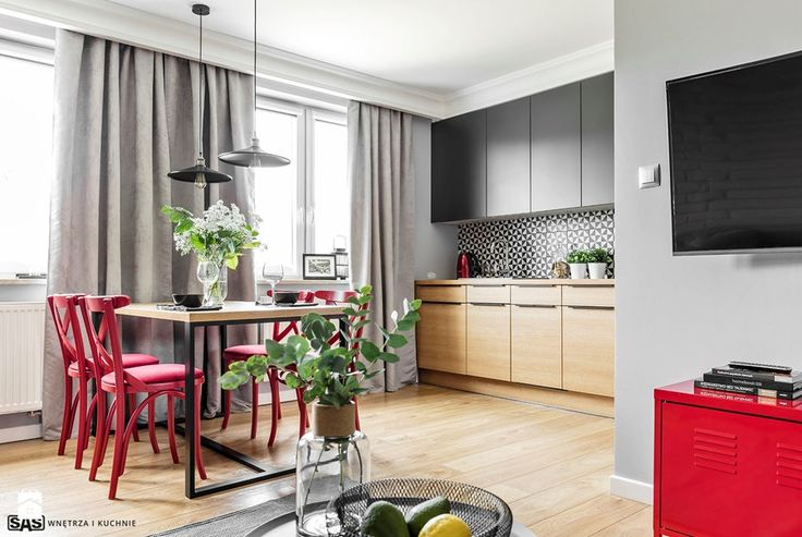 1000+ ideas about Red Dining Rooms on Pinterest  Long   -> Funkcjonalna Kuchnia Z Oknem