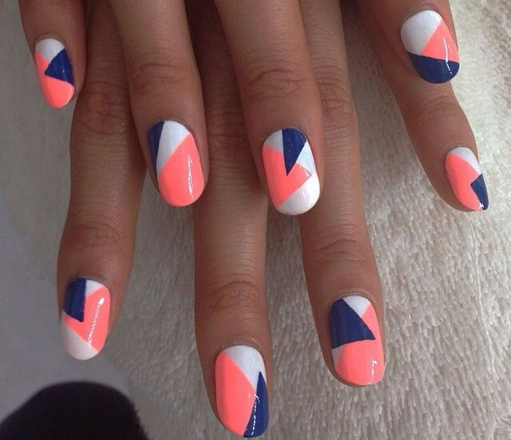 Fun Spring nail art.