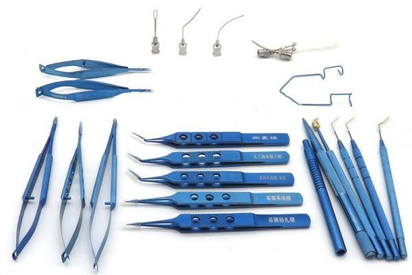 Titanium Surgical Set of 19 Pcs Eye Ophthalmic Surgical
