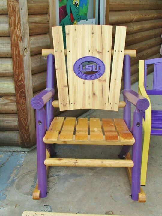 ... Rocking Chair ~ღ~  LSU  Pinterest  Rocking chairs, Lsu and Chairs