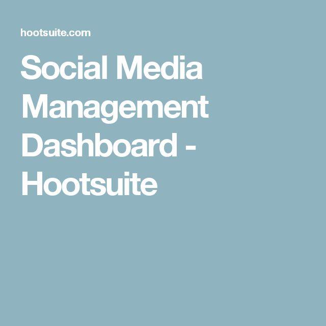 Social Media Management Dashboard - Hootsuite