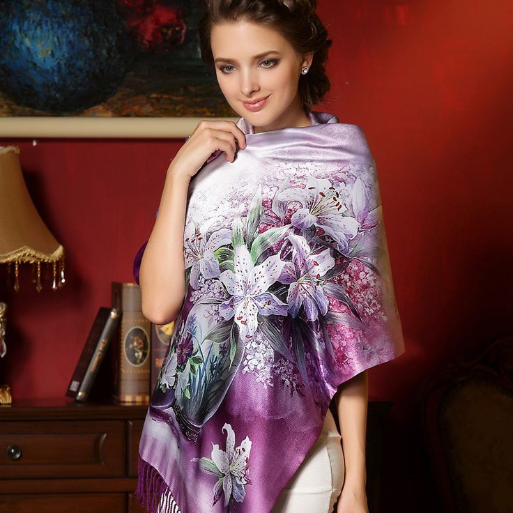 ==> [Free Shipping] Buy Best Autumn And Winter High-end Gift Box High-grade Real Silk Scarf Shawl Double Warm Silk Scarves Online with LOWEST Price   32724721531