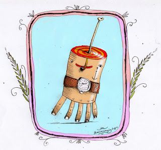 Robert Romanowicz illustration: *Give me your hand*