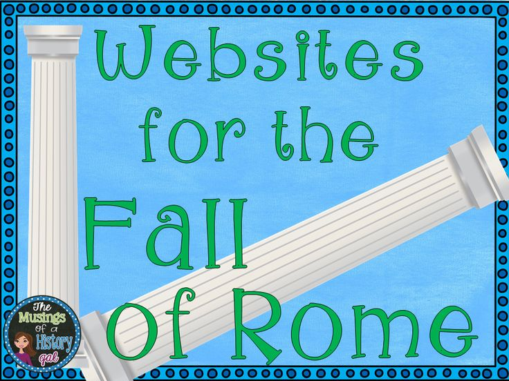 the history of the fall of rome The fall of rome is a heavily debated topic with an extraordinary range of theories as to how such a great power ultimately fell, and how.