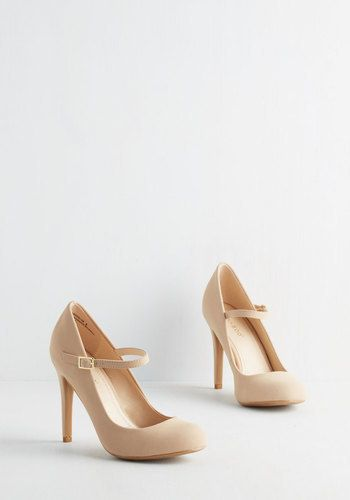 J.P. Original Corp. Shoe Had Me At Hello Heel in Beige