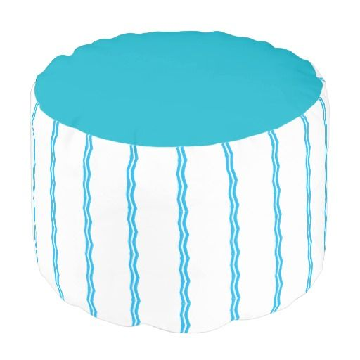 Blue Design PicPillows Pouf Round Pouf