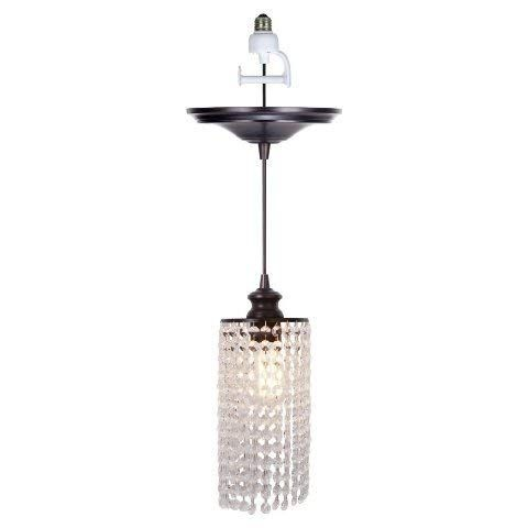 Worth Home Products Instant Screw In Pendant Light With Clear