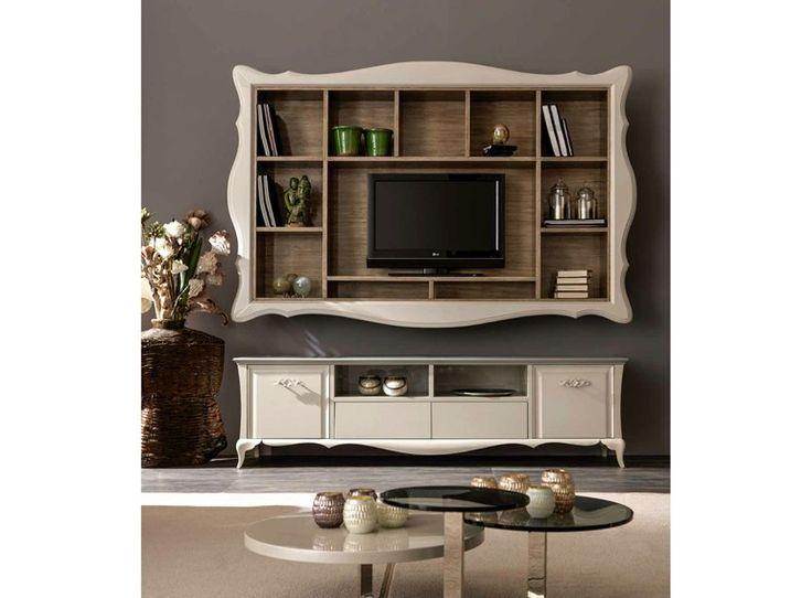 Mueble modular de pared montaje pared con soporte para tv ALICE | Mueble modular…
