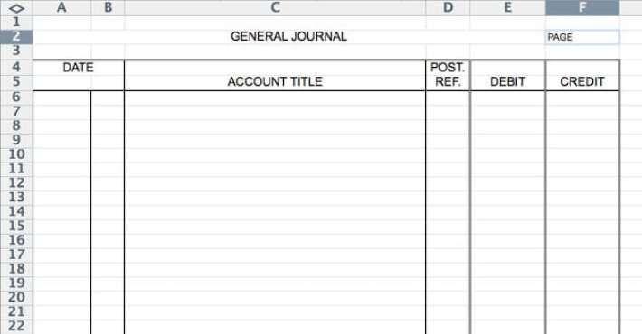 5 General Journal Templates Journal Template Templates Journal