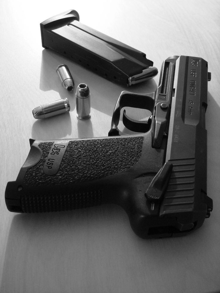 HK USP Compact .45 Auto. One of the three .45 caliber pistols I want