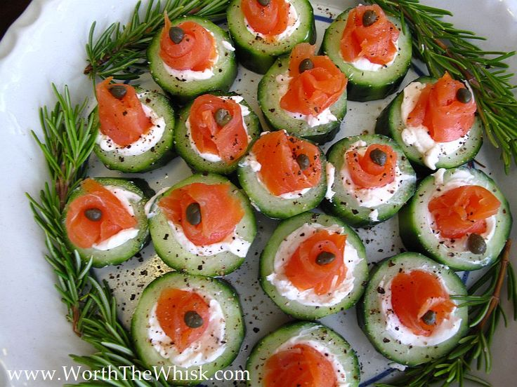 Cucumber, Cream Cheese and Lox ~ a Foolproof Appetizer - Worth The Whisk; swapping smoked salmon for lox.
