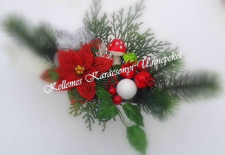 #karácsonyi ,#asztaldísz, #mikulás ,#virág